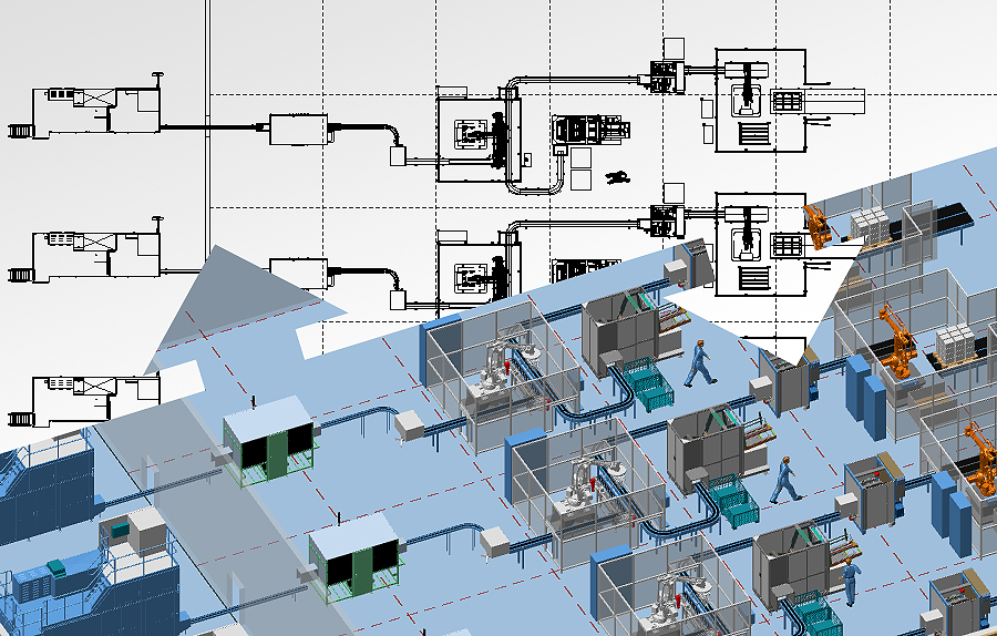 Software for 3D Factory Design and 2D Layout   MPDS4