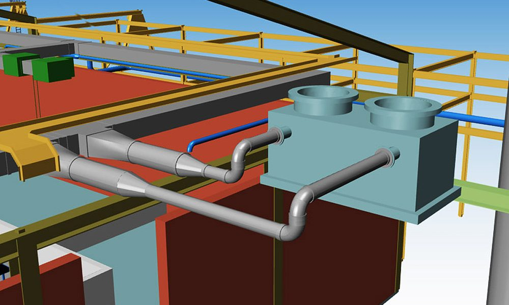 3D HVAC Design Software for Plants | MPDS4 DUCTING DESIGN