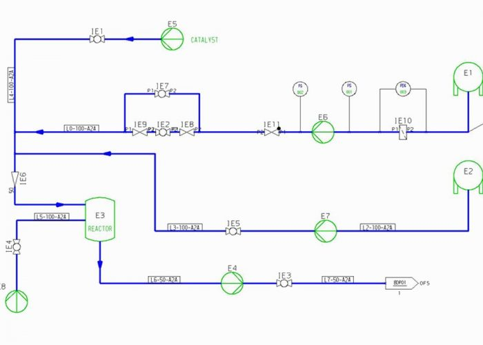 Create and edit intelligent piping and instrumentation diagrams (P&IDs)