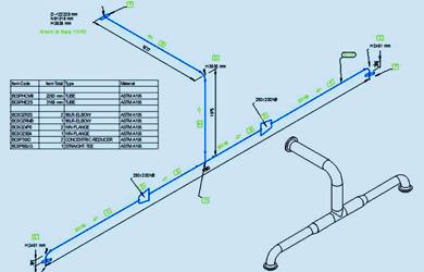 Isometrie Software fuer unmassstaebliche Rohrleitungsisometrien M4ISO new creating piping isometrics in ptc creo piping