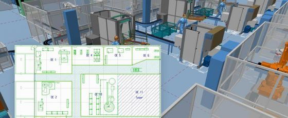 Design factories in 2D and automatically generate 3D floor plans