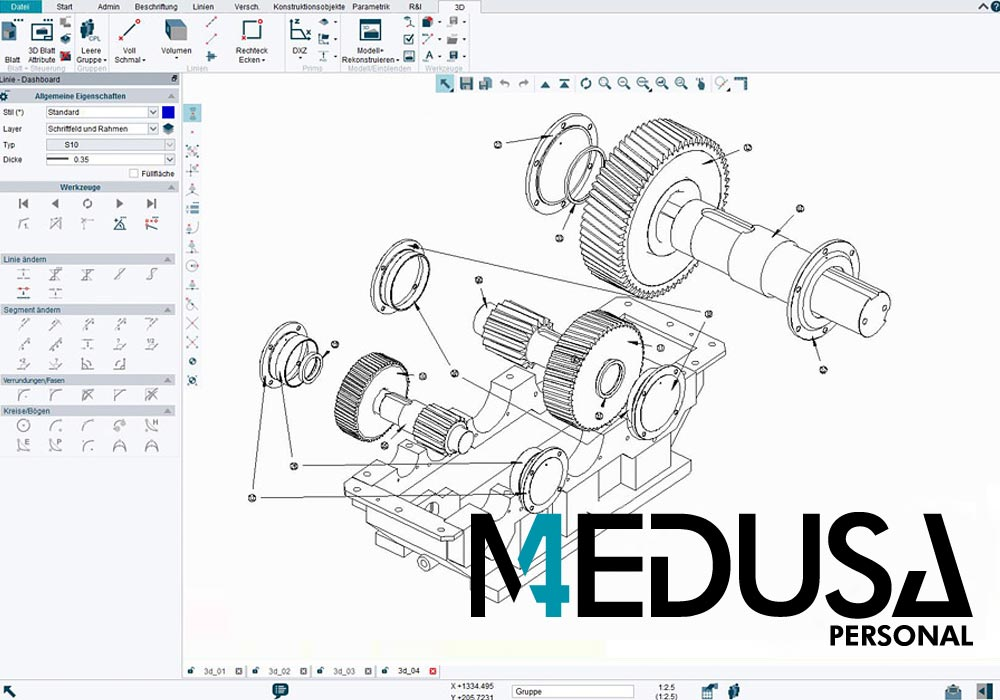 MEDUSA4 Personal is low-cost CAD software for craftsmen