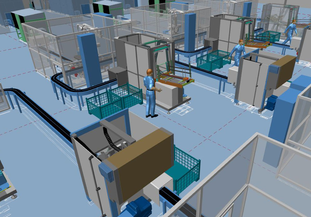 Modern factory planning thanks to the 3D factory layout