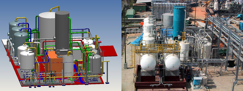 A water pretreatment plant with desalination in Trinidad, and its MPDS model