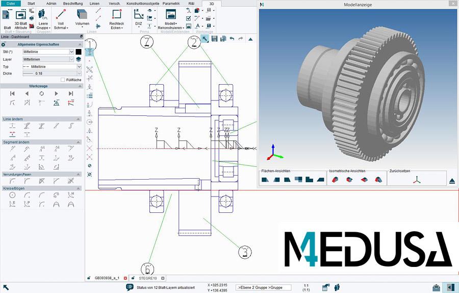 3d modelling with the cad software medusa4 3d for Barhocker 2d cad