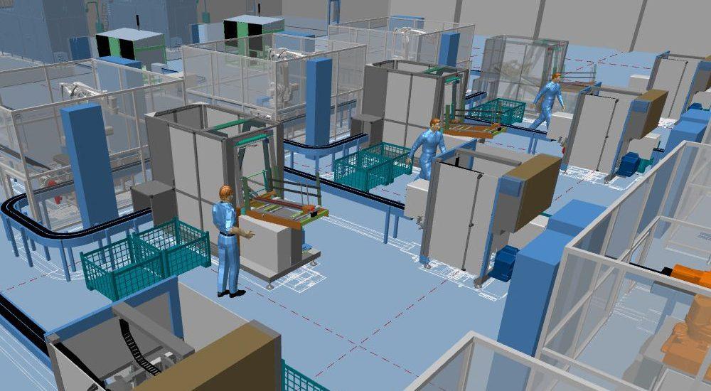3D-Fabrikplanung und 2D-Layout vereint in einer Software
