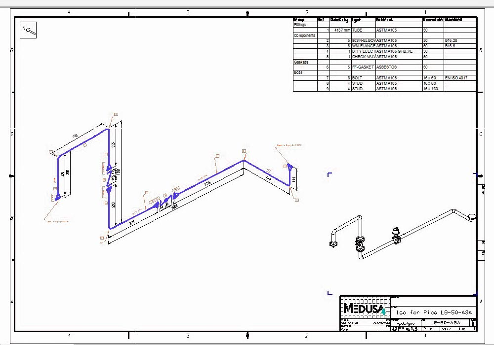 Automatic Piping Isometrics From 3d Piping Designs M4 Iso