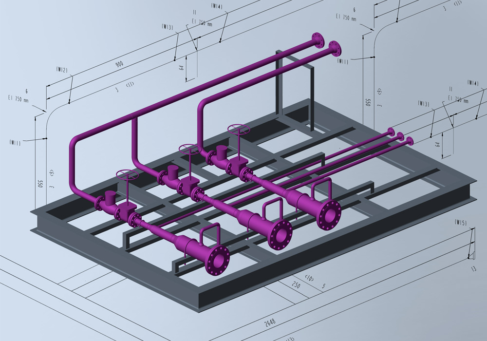 automatic piping isometrics from 3d piping designs