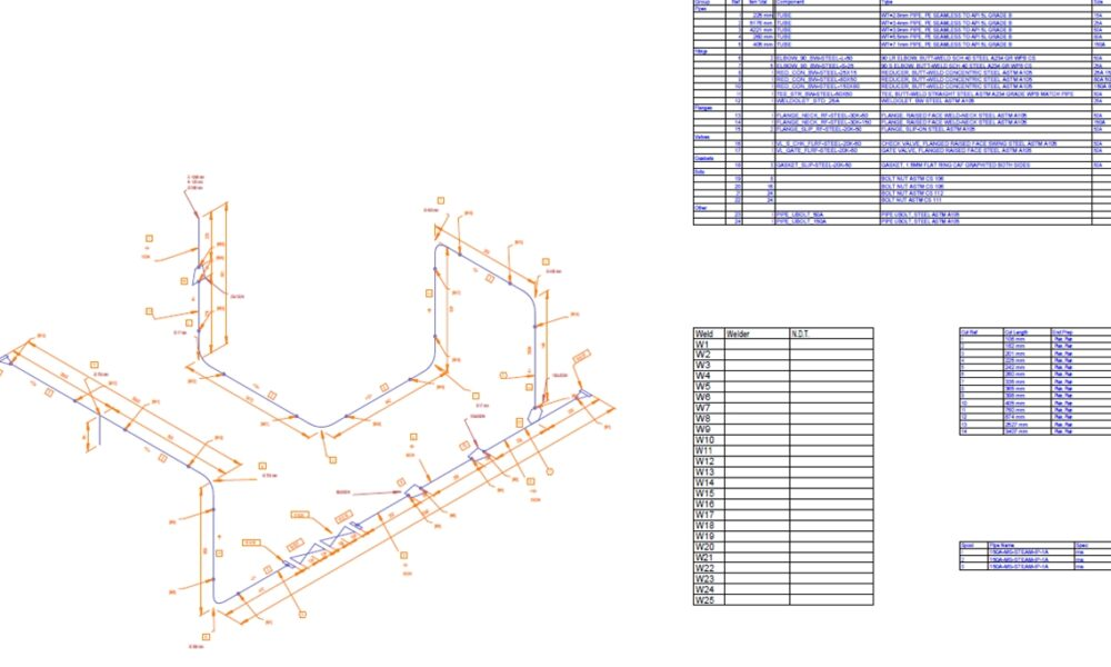 M4-Iso Piping Isometrics for Creo Piping