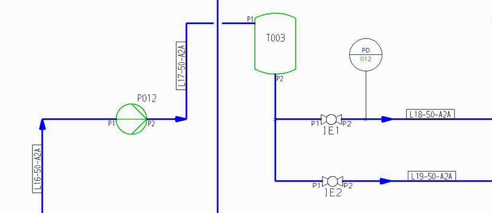 Process Diagrams  Symbols And Attributes In P U0026id Schematics