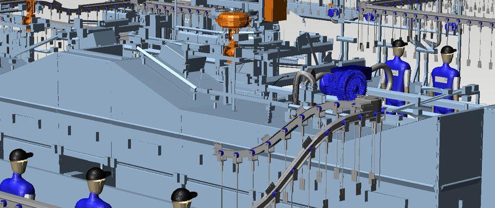 Factory Layout Mechanical Handling 3D M4 PLANT
